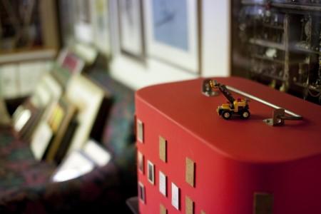 Kleiner fleißiger Legokran